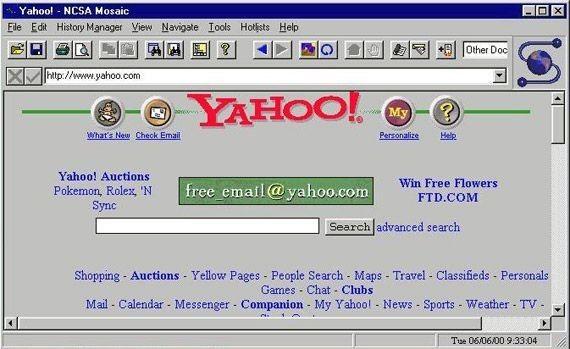 Old Yahoo design